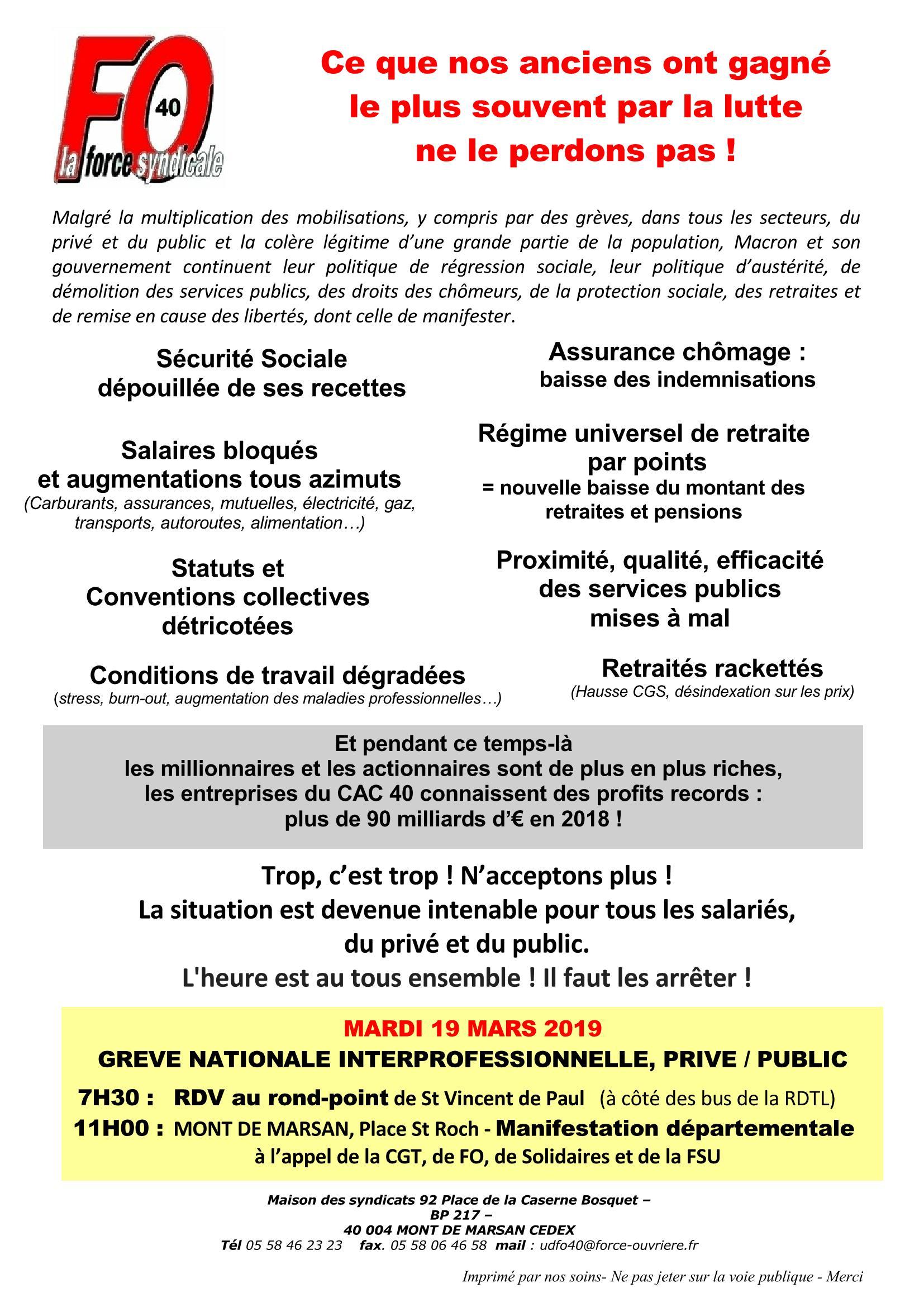 6c0999e90d6 Union départementale FO 40 - Landes - Le droit au respect - le ...